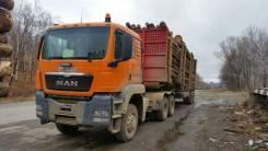 MAN TGS 40.430. Продаётся Седельный тягач MAN с полуприцепом Лесовоз, 430 куб. см., 40 000 кг.