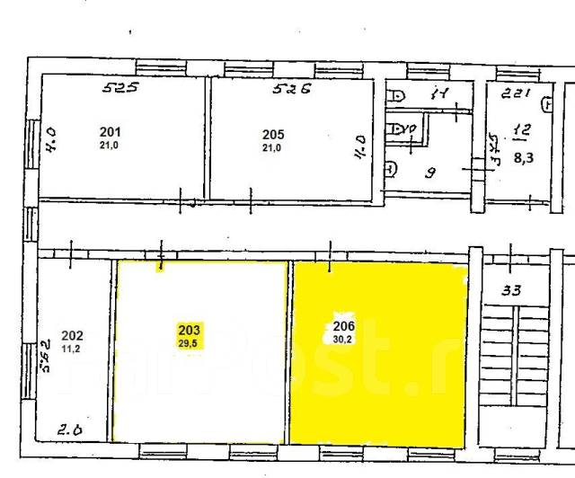Офис в центре города, 30.2 м2 в Находке. 30кв.м., улица Административный Городок 1, р-н Центральная площадь