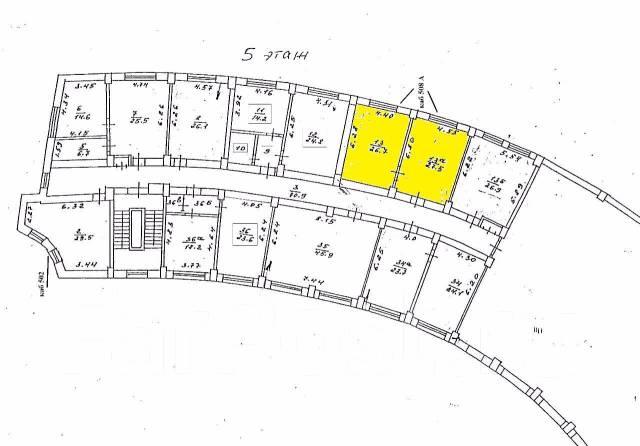 Офис с видом на море в центре города, 54.2 м2 в Находке. 54кв.м., улица Портовая 3, р-н Центральная площадь