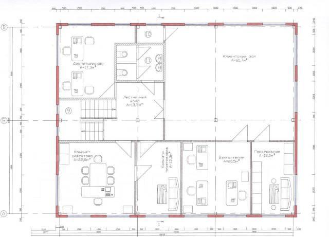 Предлагаем в аренду универсальный объект. Улица Снеговая 34 стр. 2, р-н Снеговая, 352 кв.м., цена указана за квадратный метр в месяц. План помещения