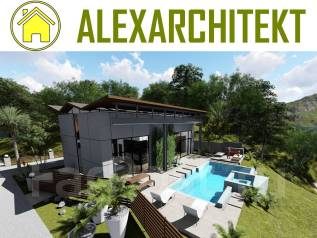 1 ZL AlexArchitekt Проект двухэтажного дома. 100-200 кв. м., 2 этажа, 2 комнаты, каркас