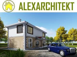 A 702x AlexArchitekt Завораживающий двухэтажный дом. 100-200 кв. м., 2 этажа, 5 комнат, комбинированный