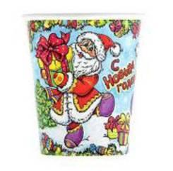 """Набор бумажных стаканов """"С Новым Годом"""" Дед Мороз"""