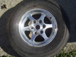 """Одна летняя шина 265/70 R-16 на литье 6х139.7. 7.0x16"""" 6x139.70 ET48 ЦО 65,0мм."""