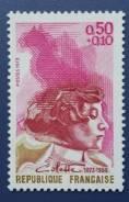 1973 Франция. Сидони-Габриэль Колетт - писательница. 1 марка. Чистая