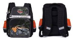 Ортопедический школьный рюкзак (ранец) Grizzly (1-5 класс) с брелком