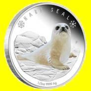 Тувалу 50 центов 2017 Гренландский Тюлень. Серия 'Полярные Детеныши