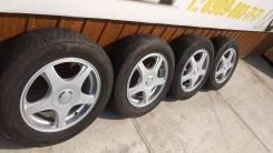 Комплект колес 195/65R-15 с летней резинй Dunlop 2013г. 6.0x15 5x100.00, 5x114.30 ET43 ЦО 73,0мм.