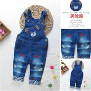 Комбинезоны джинсовые. Рост: 68-74, 74-80, 80-86, 86-92, 92-98, 98-104 см. Под заказ