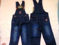 Комбинезоны джинсовые. Рост: 74-80, 80-86, 86-98, 98-104 см