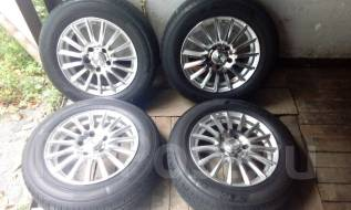 Комплект летних колес 195/65 15 на дисках Weds Leonis. x15 5x114.30 ЦО 72,0мм.
