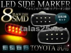 Повторитель поворота в крыло. Toyota Land Cruiser Prado, TRJ125, TRJ120, GRJ125W, TRJ120W, RZJ125W, GRJ121W, GRJ120, TRJ125W, RZJ120, LJ125, VZJ121, V...