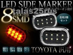 Повторитель поворота в крыло. Toyota Land Cruiser Prado, VZJ120, GRJ120W, KDJ121W, KDJ125W, GRJ125W, GRJ120, KDJ125, RZJ120, RZJ125W, KDJ121, LJ120, R...
