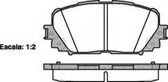 Колодки дисковые п.\ Toyota Yaris 1.0/1.3/1.4 D-4D 06>