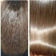 Кератиновое выпрямление и ботокс волос!