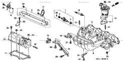 Регулятор давления топлива. Honda Odyssey, GF-RA4, GF-RA3, E-RA4, E-RA3 Honda Avancier, GH-TA1, LA-TA1, LA-TA2, GH-TA2 Honda Accord Honda Shuttle Двиг...