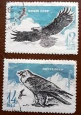 Набор марок. Птицы. СССР. 1965 г.