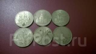 1 рубль Олимпиада 80 набор. все 6 монет