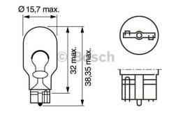 Лампа STANDARD W16W 12V 16W 1987302205 bosch 1987302205 в наличии