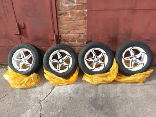 Продам комплект колес литье+летняя резина 195/65 R15 сверловка 5x100. 6.0x15 5x100.00 ET45