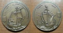 Авторская Медаль ЛМД 1992 года. 260 / 500 лет Открытия Америки