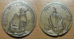 Медаль ЛМД 1992 года. 260 / 500 лет Открытия Америки. Корабль