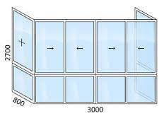 Балконы и окна с отделкой
