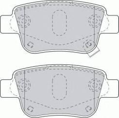 Колодки дисковые з.\ Toyota Avensis 1.6i-2.4 03>