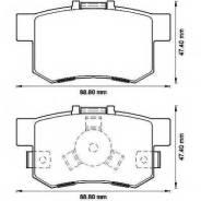 Колодки дисковые з. Honda CR-V II 2.2i/CTDi 05>