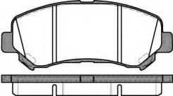Колодки дисковые передние!\ Nissan Qashqai/X-trail 1.6-2.5i/1.5-2.0dCi 07>