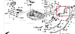 Горловина топливного бака. Honda: Domani, Ballade, Civic Ferio, Integra SJ, Civic, Integra Двигатели: B16A6, B18B4, D16Y9, D15Z4, D16Y5, D16Y6, D15Z5...