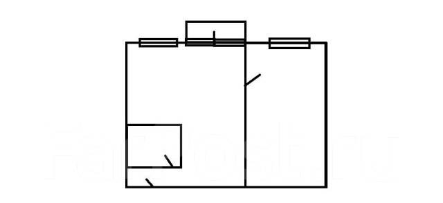 2-комнатная, улица Нерчинская 3. Центр, 50кв.м. План квартиры