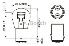 Лампа STANDARD P21/5W 12V 21/5W 1987302202 bosch 1987302202 в наличии