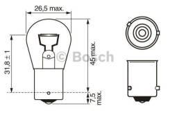 Лампа STANDARD PY21W 12V 21W 1987302213 bosch 1987302213 в наличии