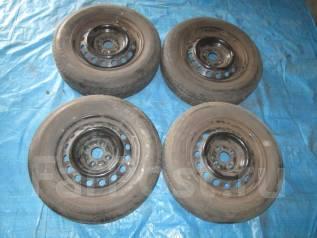 Диски Штамповка c шинами Bridgestone 175/70R14 4x100 ЛЕТО. 5.5x14