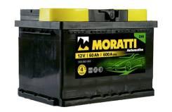 Moratti. 60 А.ч., правое крепление, производство Европа