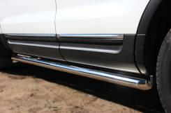 Пороги труба Ford Explorer 2012 (d63). Ford Explorer. Под заказ