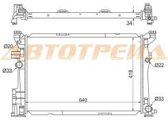 MB0017 SAT Радиатор MERCEDES CLA C117/X117 13-