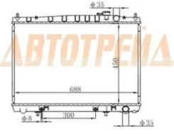 Радиатор NISSAN CEDRIC/GLORIA 95- Y33/Y34 VG20/VG30 SAT NS0006-Y33-1