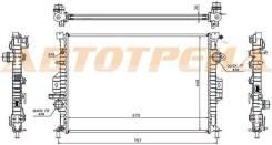 Радиатор FORD MONDEO 1.8TD/2.0T/2.0TD/2.2TD/2.5T 07-/FOCUS III 2.0TD 11-/S-MAX/GALAXY 1.6T/2.0T SAT SG-FD0003-07