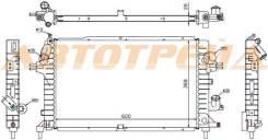 Радиатор OPEL ASTRA H 1.3TD/1.7TD/1.9TD 2005-2010 // OPEL ZAFIRA B 1.7TD/1.9TD 20 SAT SG-OP0006-04-D2
