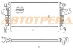 ST-1302144 SAT Радиатор интеркулера CHEVROLET CRUZE/OPEL ASTRA J 09- M/T