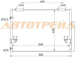 Радиатор кондиционера TOYOTA HILUX 05- SAT ST-TY96-394-0