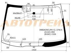 Стекло лобовое без полосы в клей HONDA ACCORD 02-08 4/5D/ACURA TSX 04-08 XYG 3986AGNCLMV-CL LFW/X
