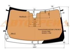 Стекло лобовое с обогревом в клей RANGE ROVER L405 5D 13-