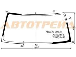 Стекло лобовое в клей без полосы TOYOTA LAND CRUISER PRADO 3/5D #J9# 96-02 XYG FJ90-CL LFW/X