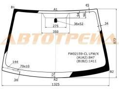 Стекло лобовое в клей без полосы TOYOTA VITZ/YARIS/ECHO/PLATZ 4D SED, 3/5D HB 99-05