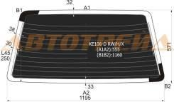KE106-D RW/H/X XYG Стекло заднее (крышка багажника) затемненное с обогревом TOYOTA COROLLA KE106 WAGON 91-98 фонари не