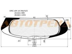 Стекло заднее (крышка багажника) с обогревом KIA SORENTO 5D 14- XYG KMC-UM-1H RW/H/X