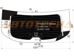 Стекло заднее (крышка багажника) затемненное с обогревом SSANGYONG KYRON SUV 5D 2007-
